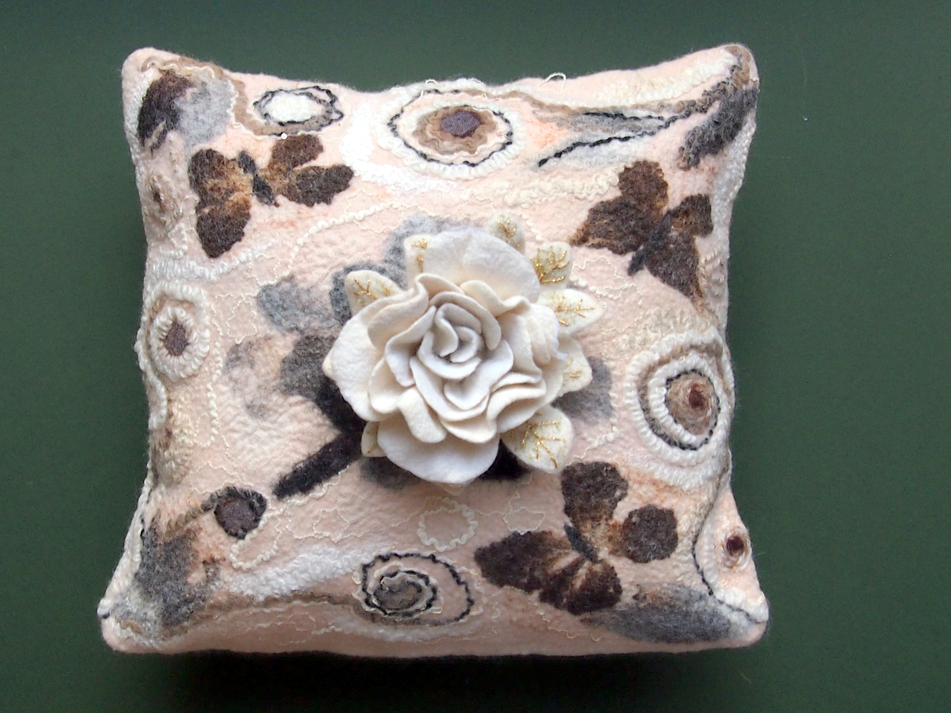 Felted Cushion made with British wool