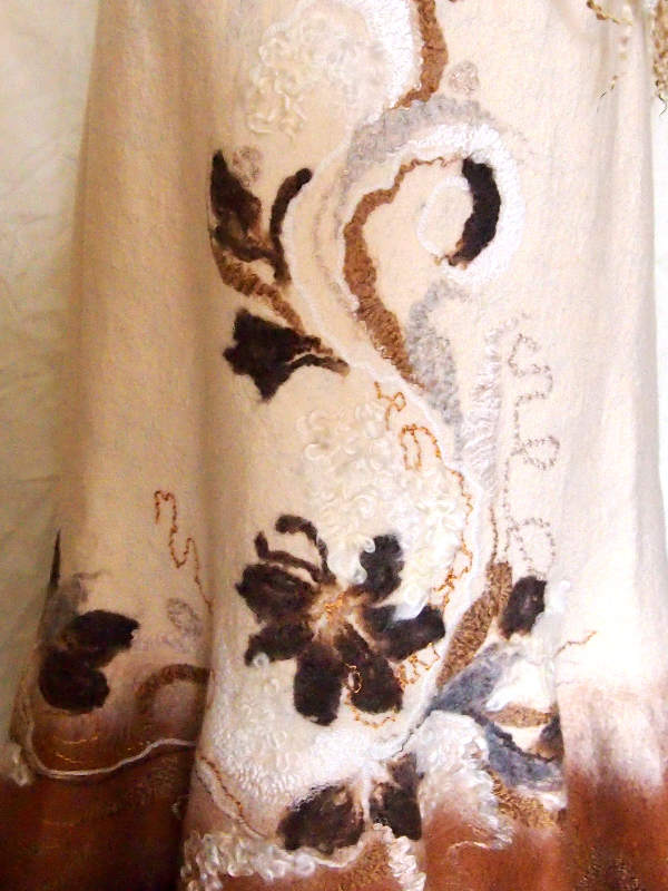 Enlarged part of Nuno Felted Skirt