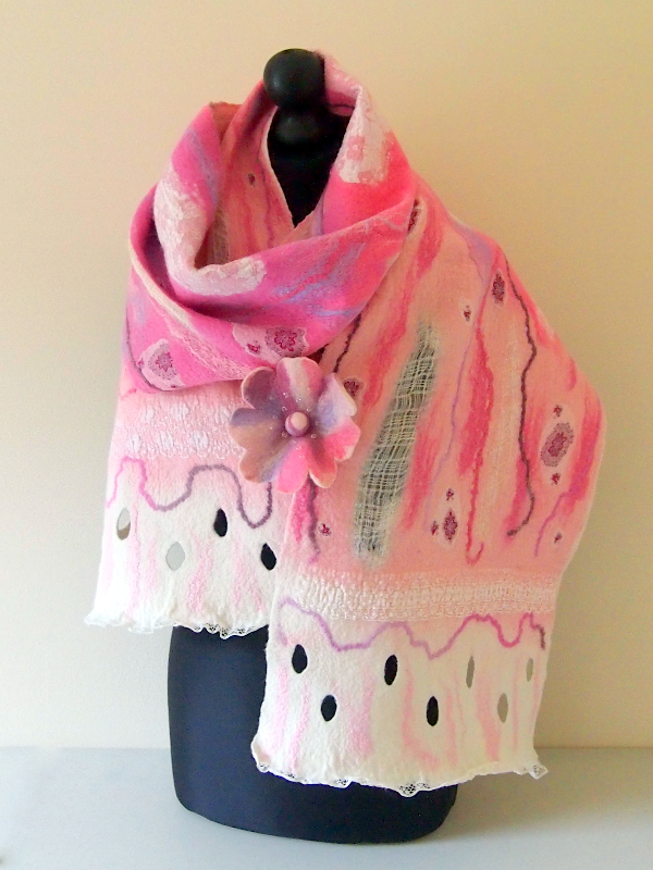 Felted Spring Blossom Scarf