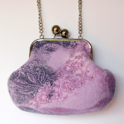 Nuno Felted Lilac Bag