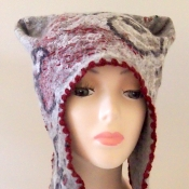 Animal Cat Felted Hat