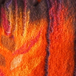 Felt scarf (detail)