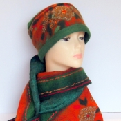 Felted Cloche Hat and Scarf