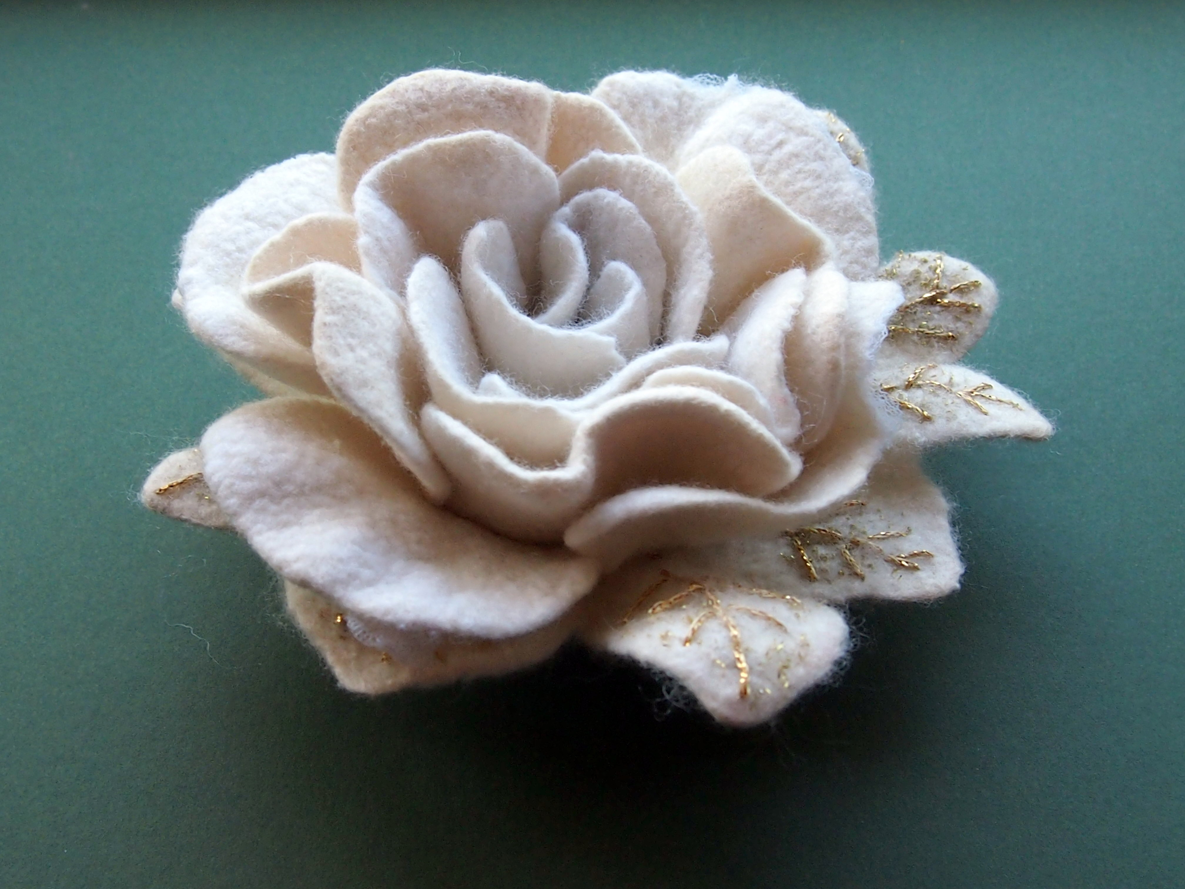 Felted Wedding Rose