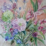 'Floral symphony' original watercolour by Raya Brown £280