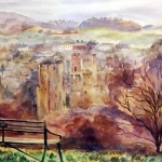 'View of Ludlow  Castle'  original watercolour by Raya Brown 49x60cm £180