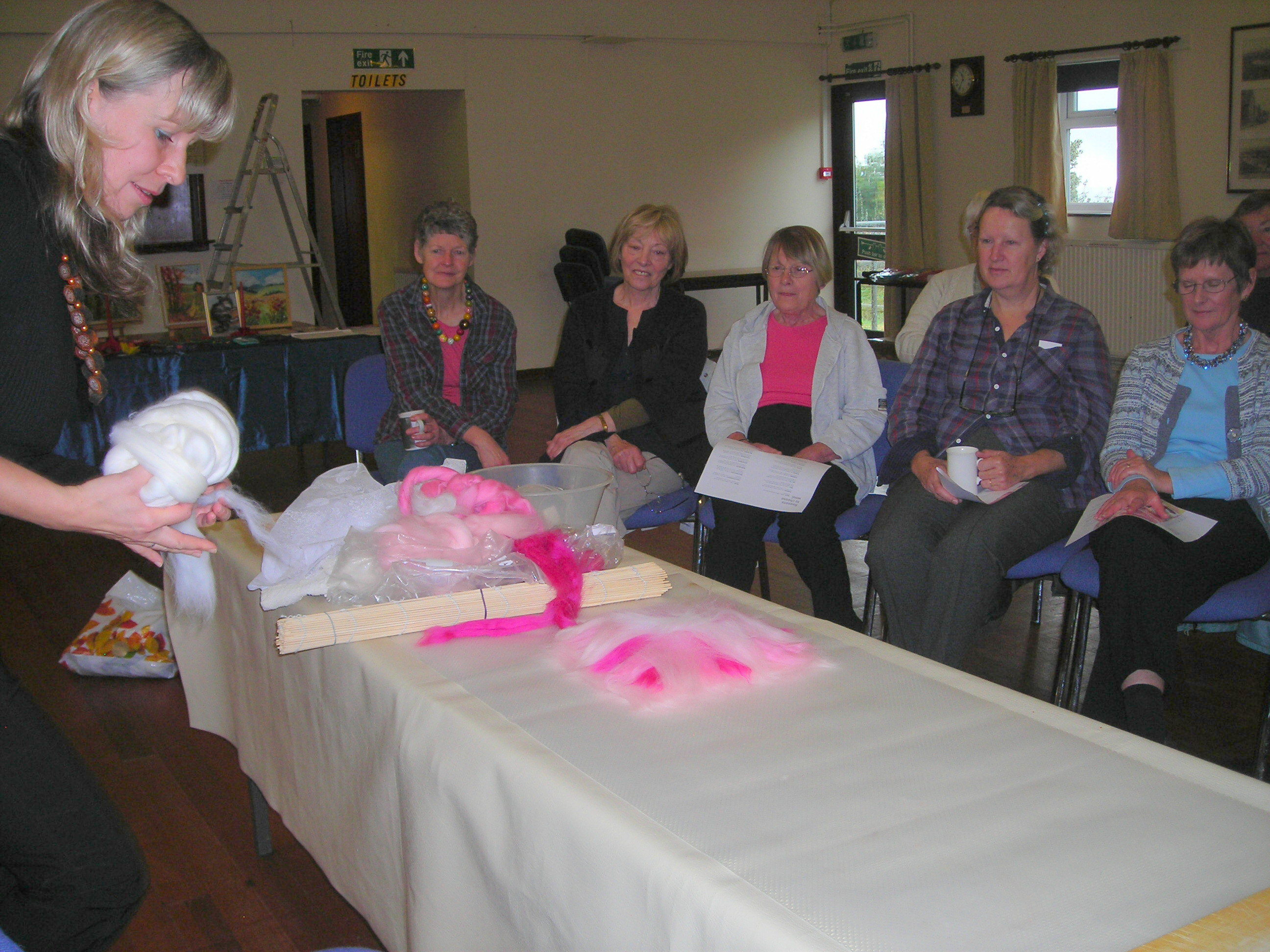 Demonstration of felt making