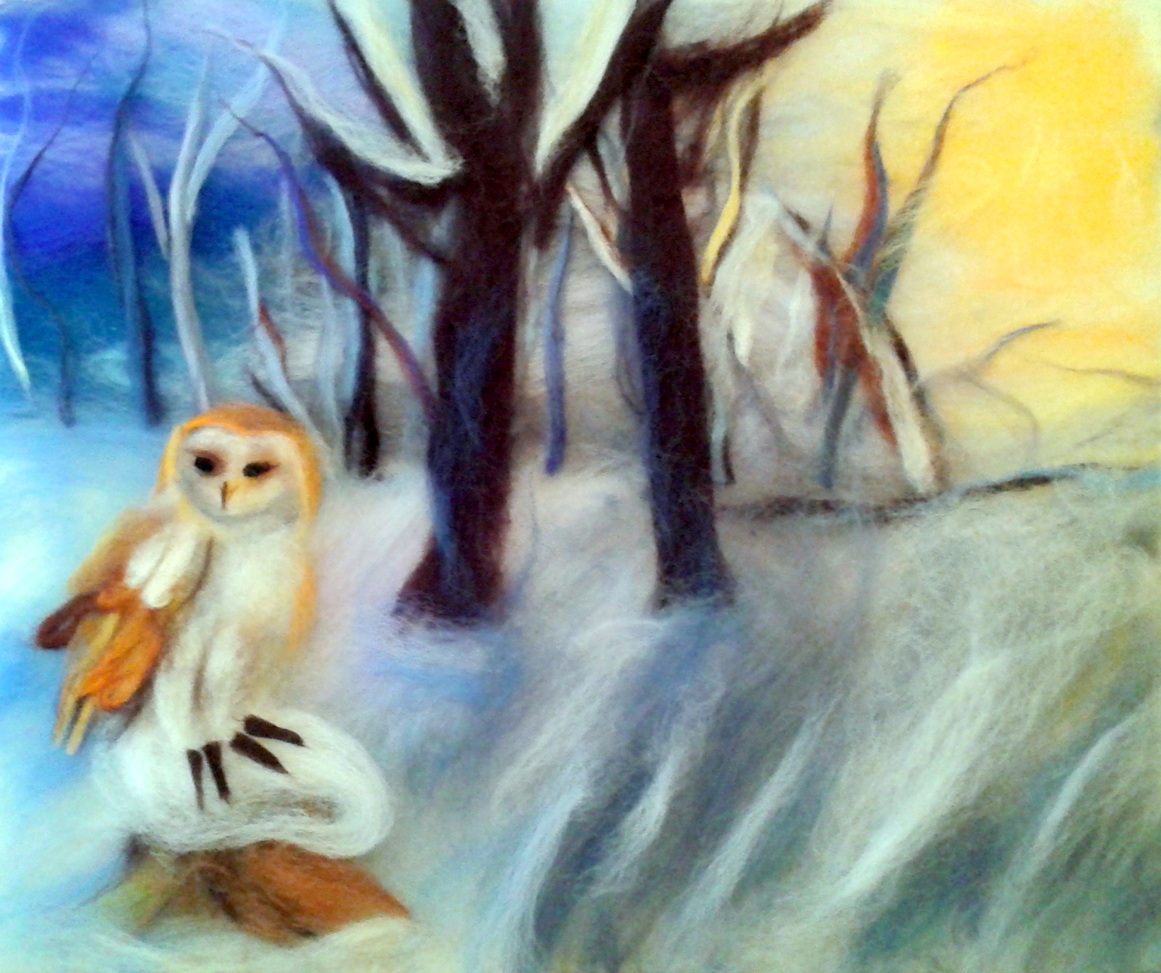 Learn wool painting at Raya's Art course in Worcestershire