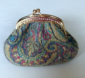 Nuno felted clutch purse