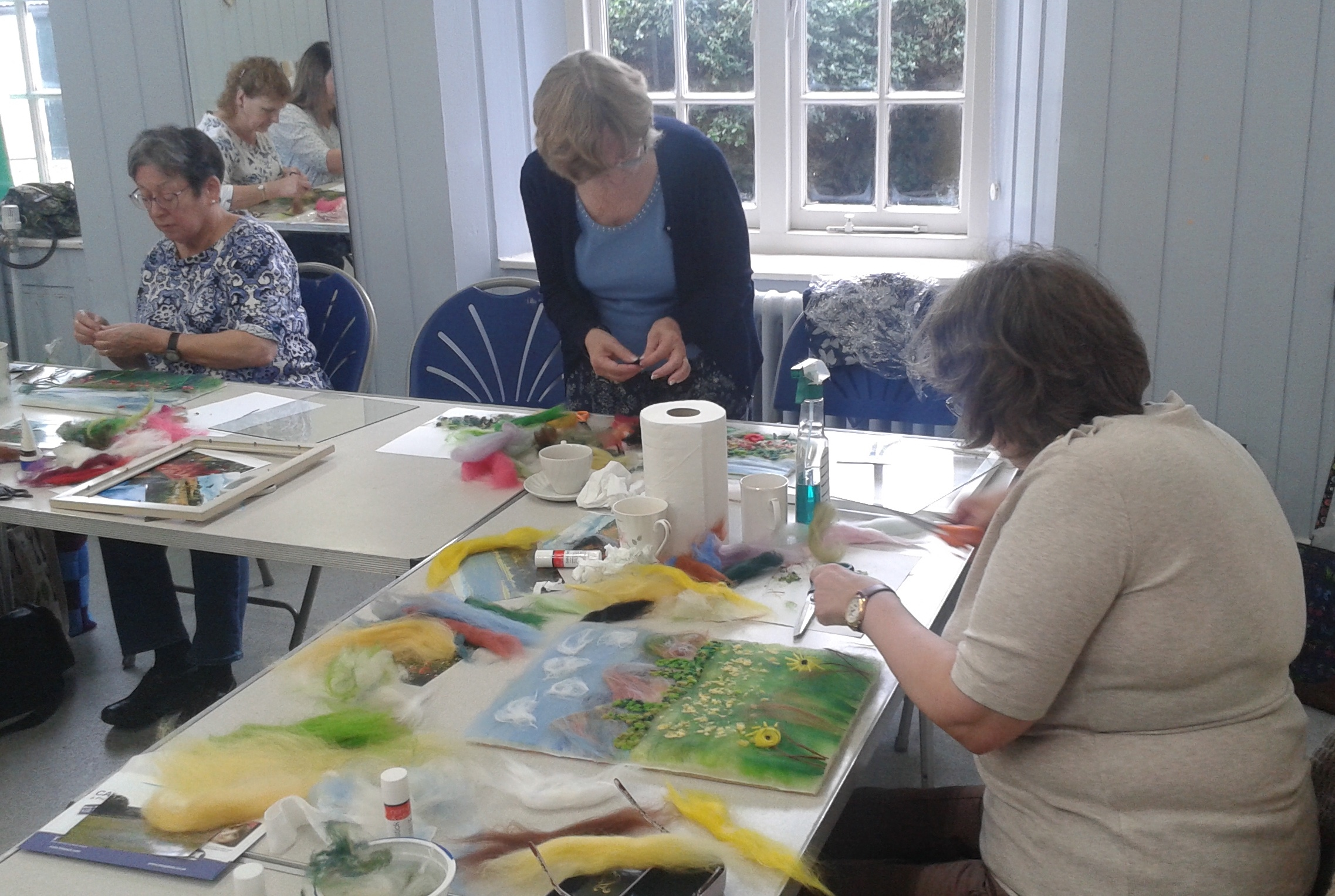 Wool Painting Workshop at East Midlands Embroiderers' Guild