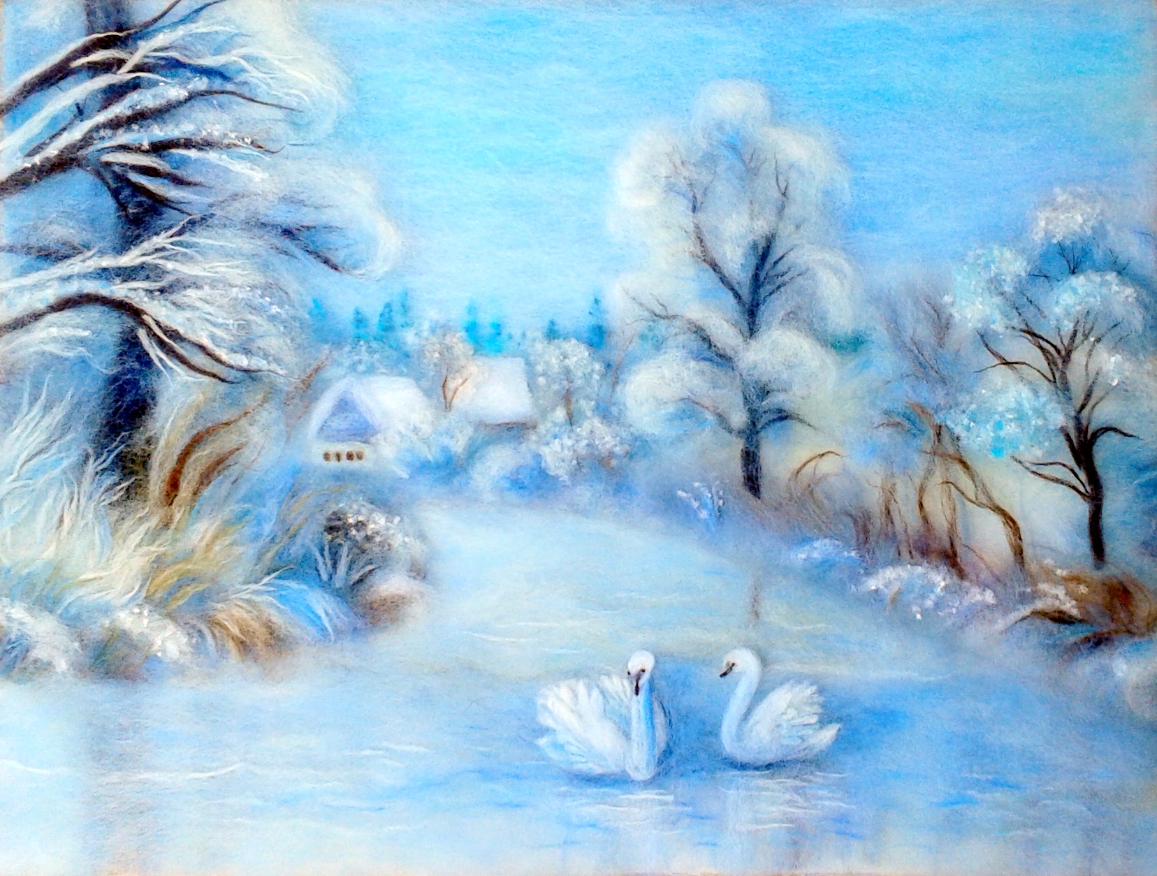 winter-lanscape-wool-painting