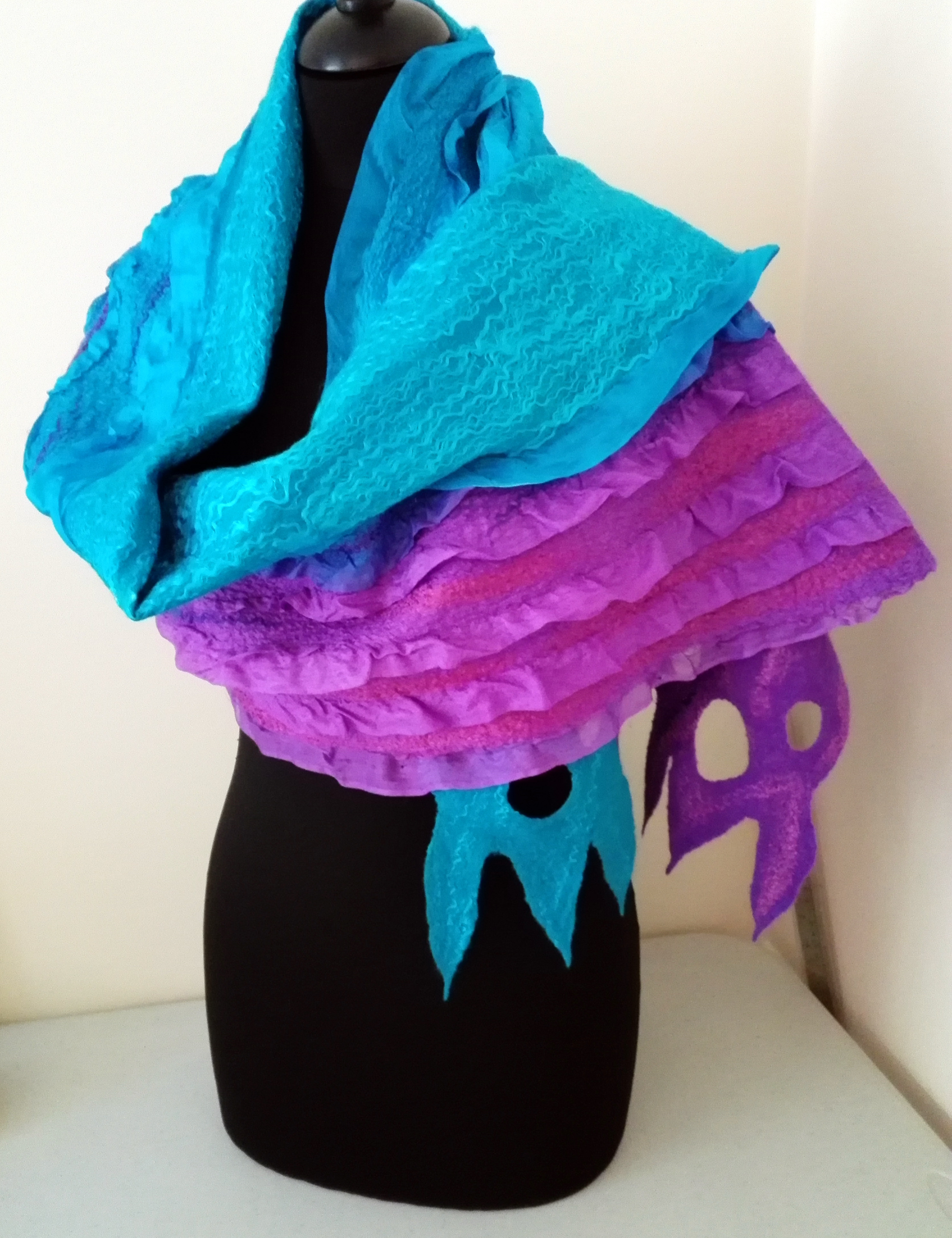 Nuno Felted Luxury Shawl