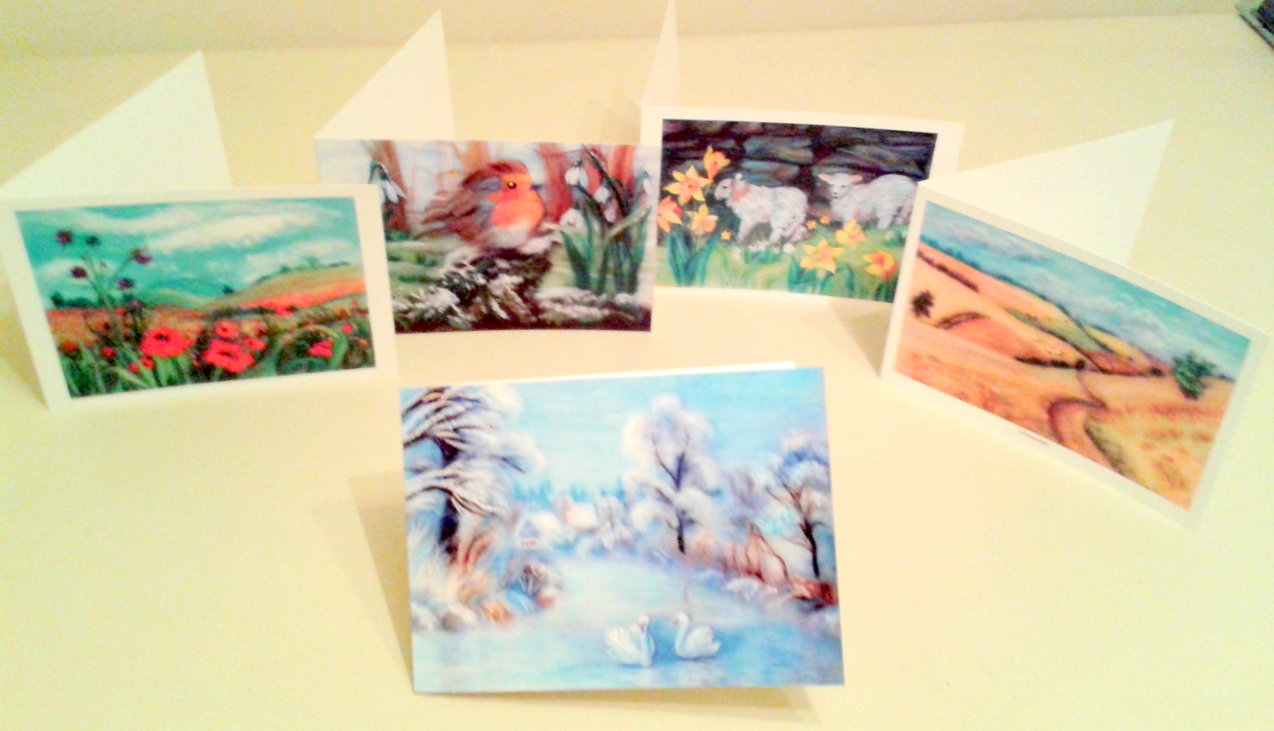 Greeting cards from original Raya Brown's art work