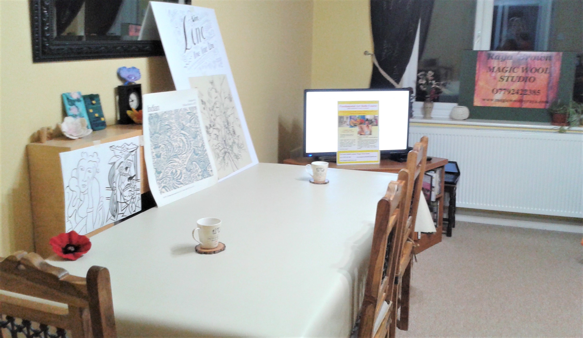 Magic Wool Studio is set up for the first class