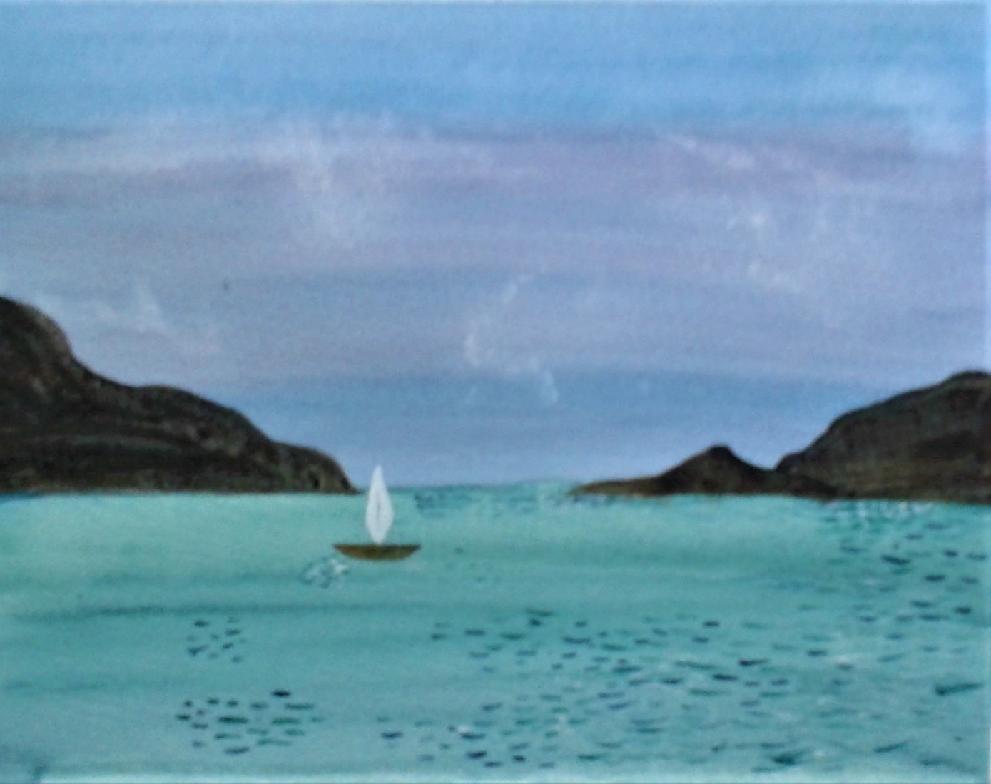 Sarah's seascape in watercolour