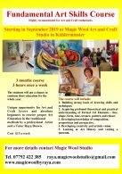 Adult Art Classes for absolute beginners will start at Magic Wool Art and Craft Studio in Worcestershire in September.