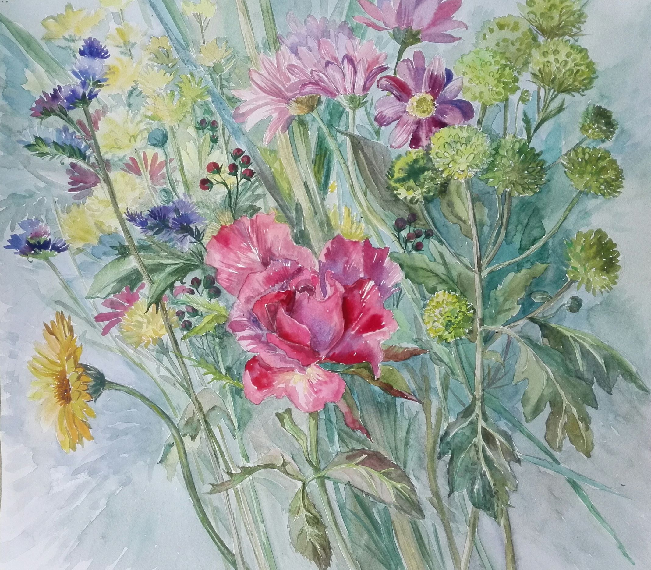 Watercolour Art Course for beginners at Magic Wool Studio in Kidderminster Worcestershire