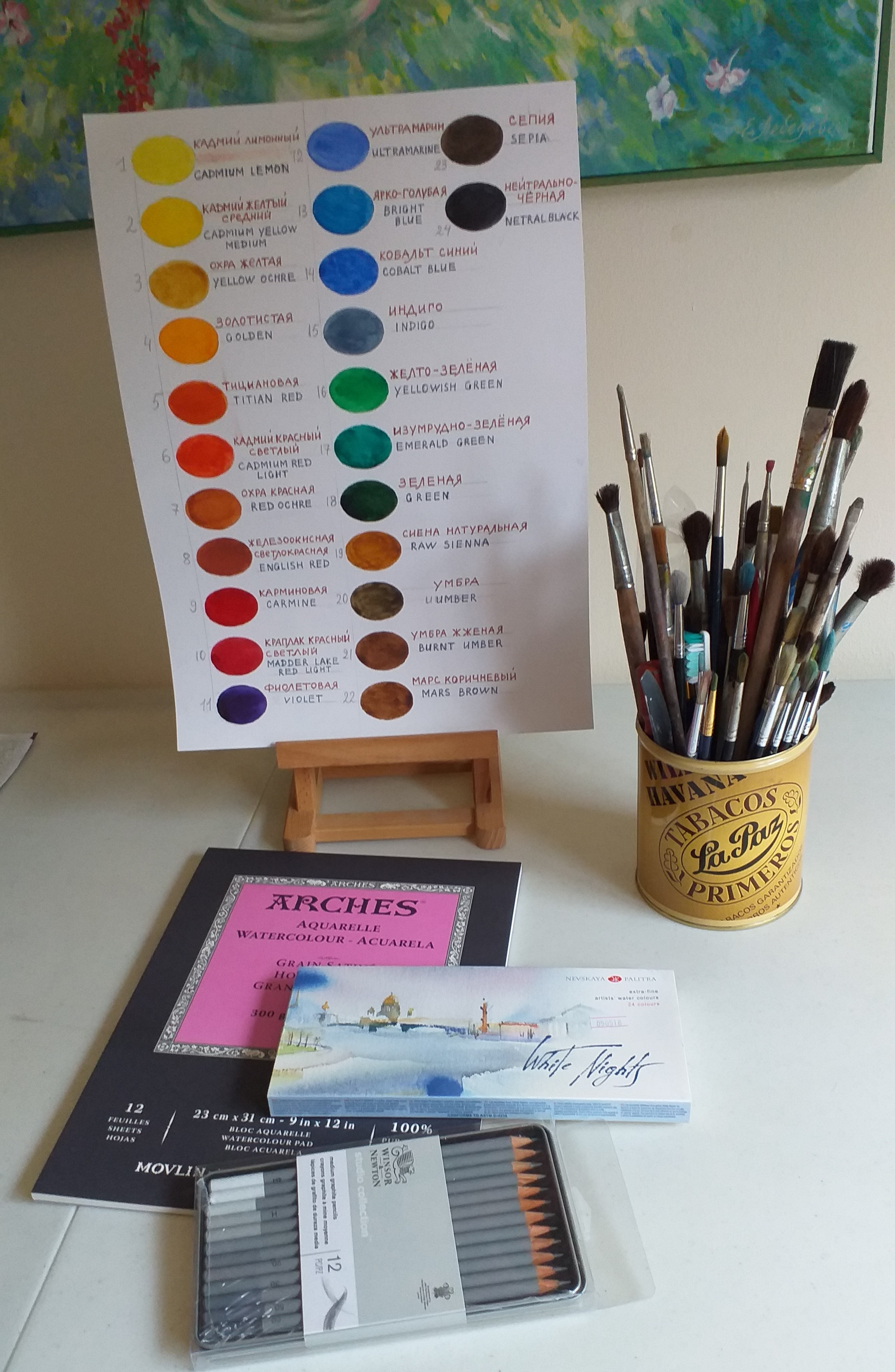 The new Watercolour course for beginners and amateur artists will start on 16th of September at Magic Wool Studio in Worcestershire