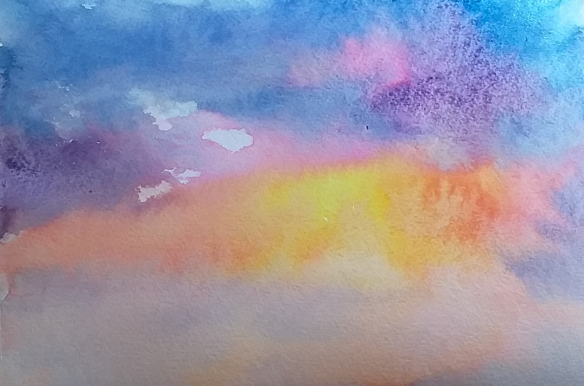 Learn how to paint sky in watercolour in Kidderminster Worcestershire.