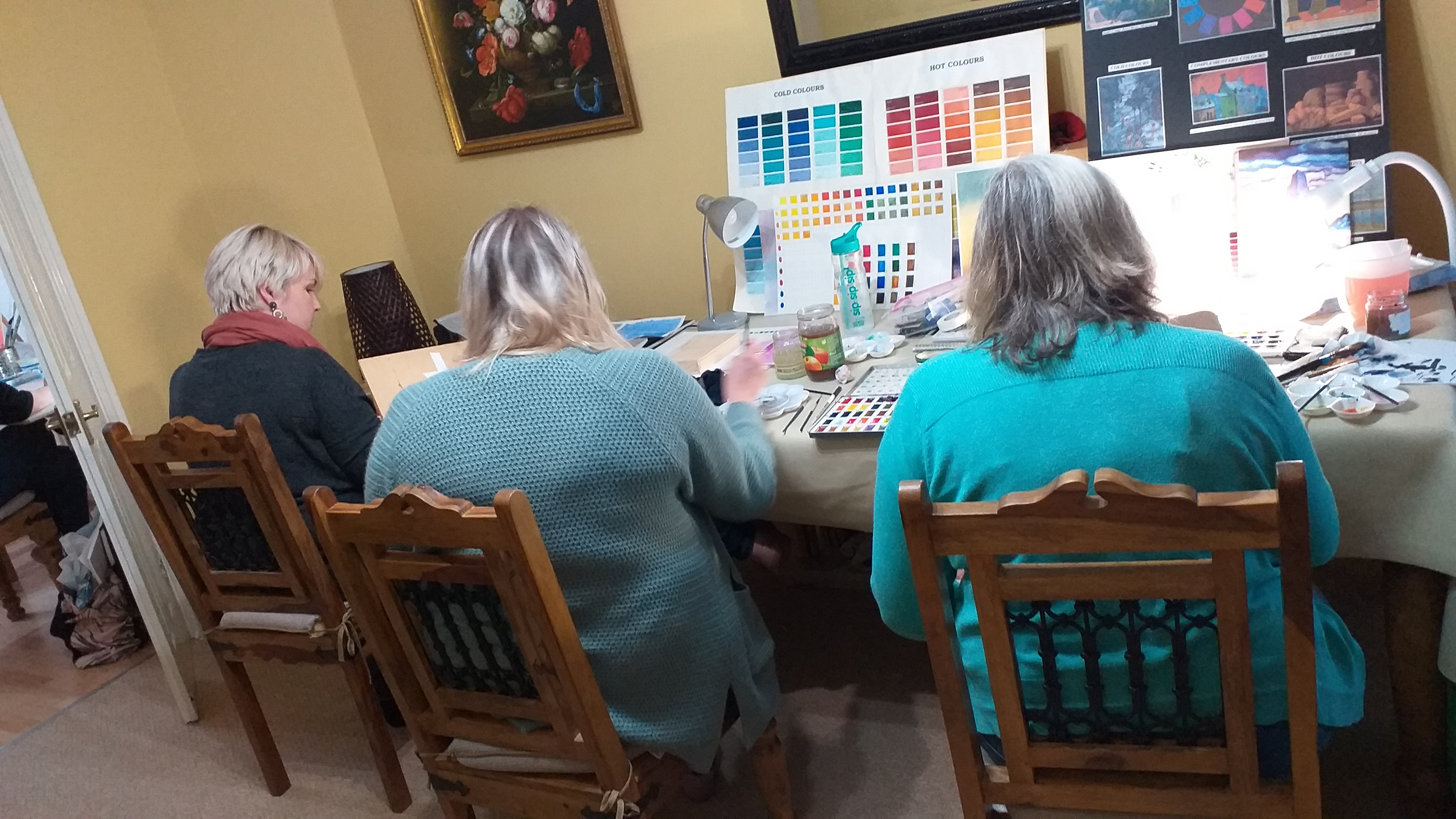 Watercolour class for complete beginners at Kidderminster Worcestershire