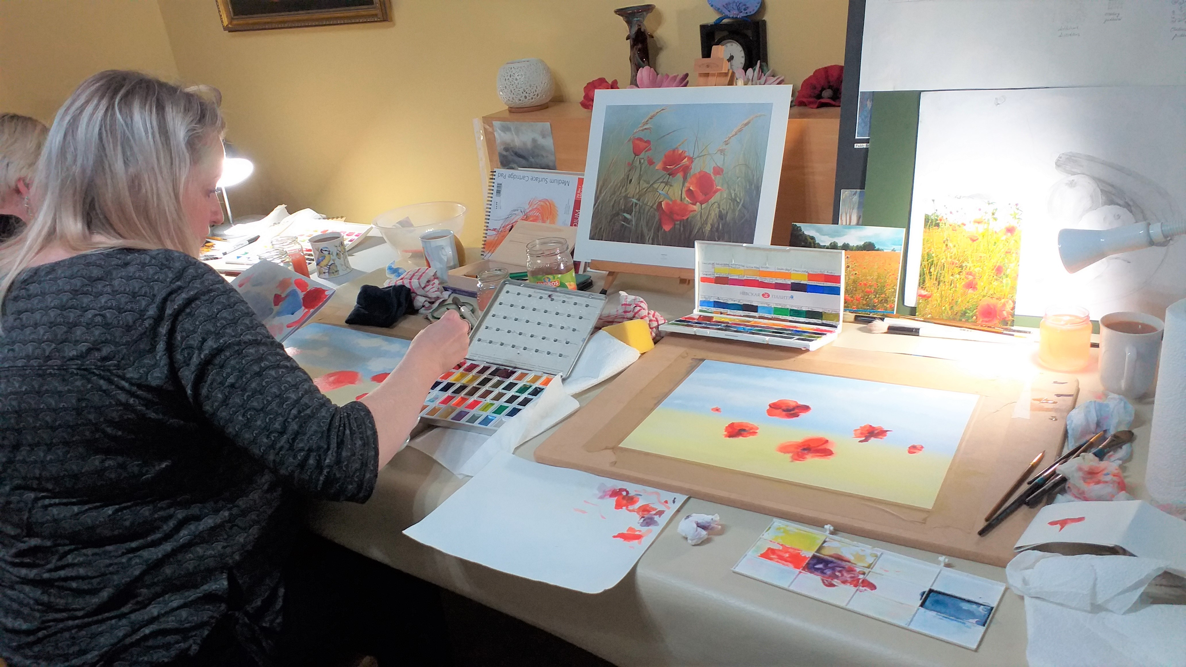 Learn to paint with watercolours in Kidderminster Worcestershire