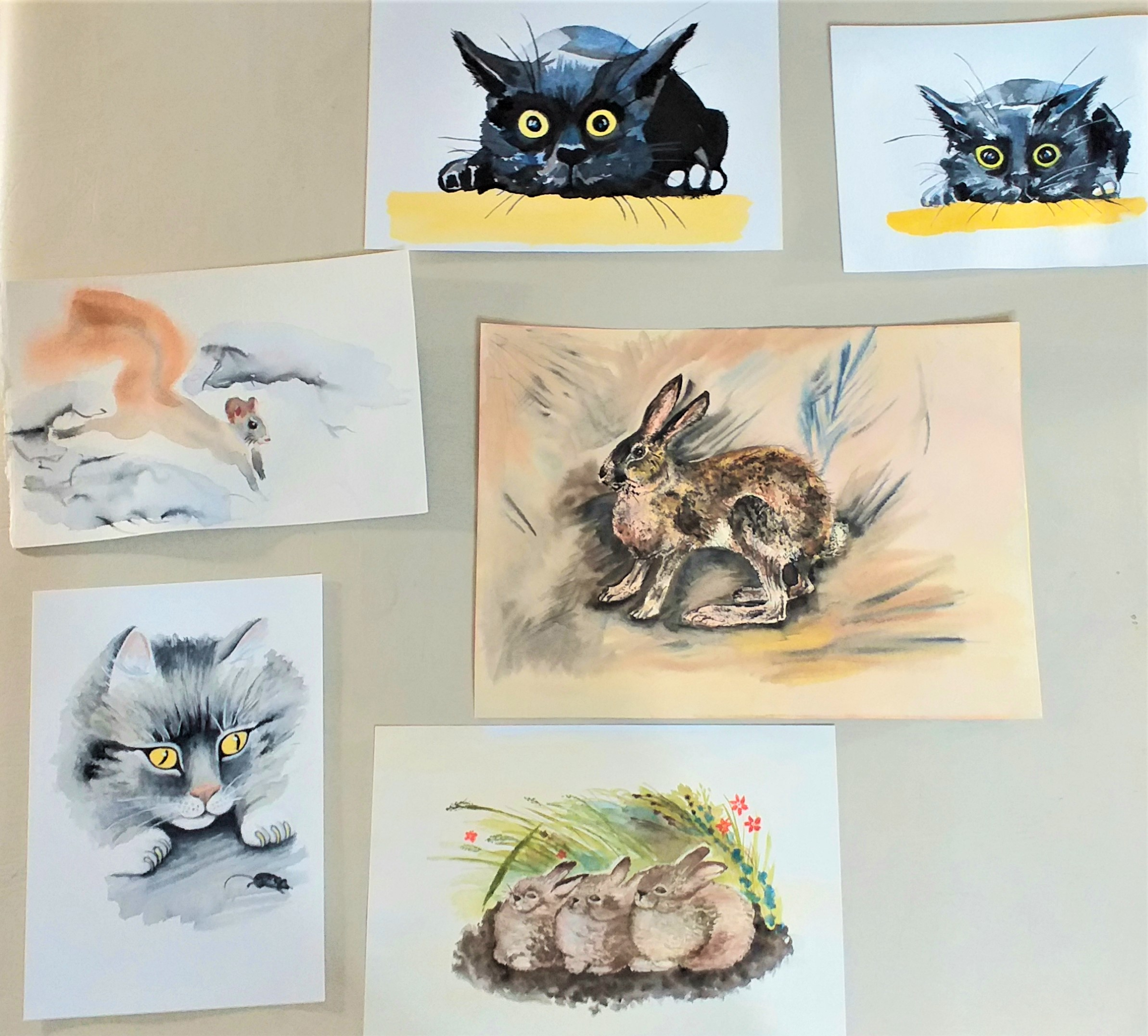 Students from Watercolour course for beginners in Worcestershire are showing amazing results