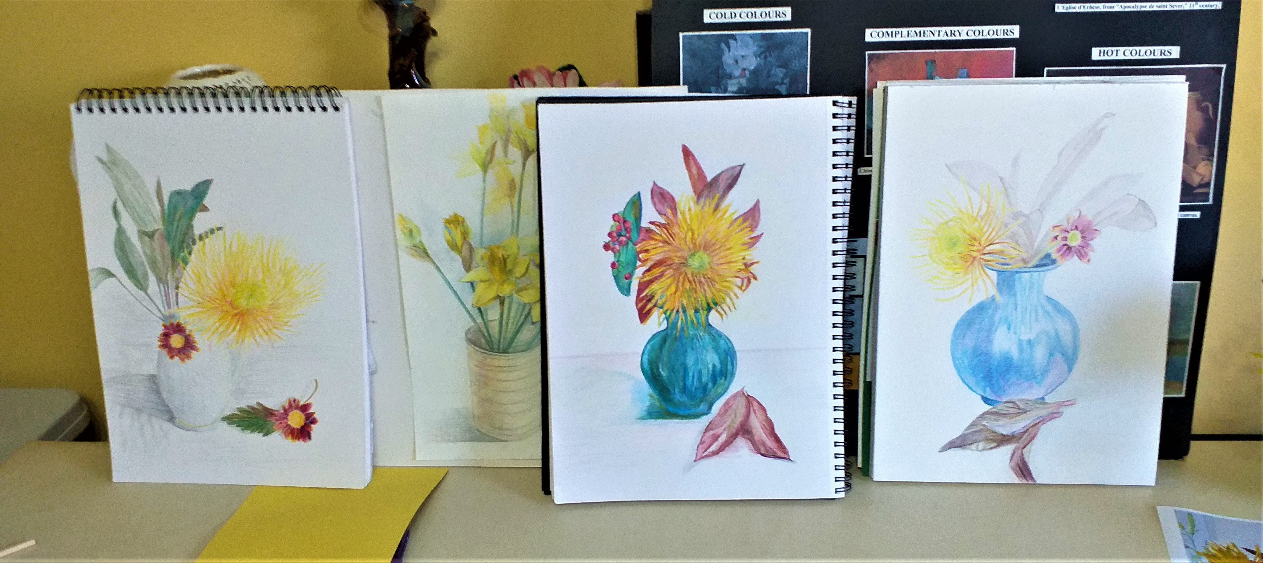 Learn how to draw with coloured pencils at Art Classes in Kidderminster Worcestershire