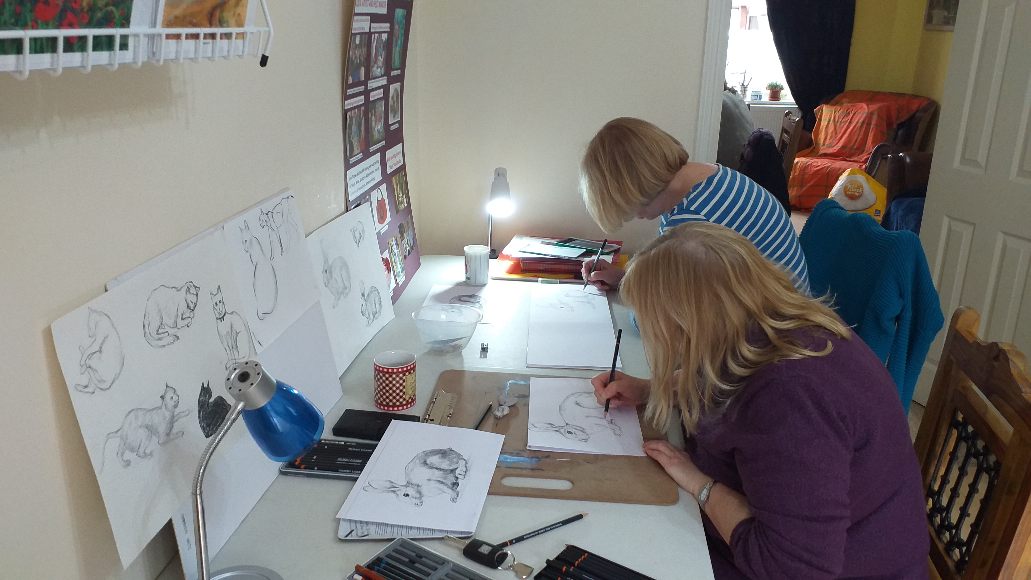 Highlights of 2019 Fundamental Art Skills course for complete beginners in Kidderminster Worcestershire