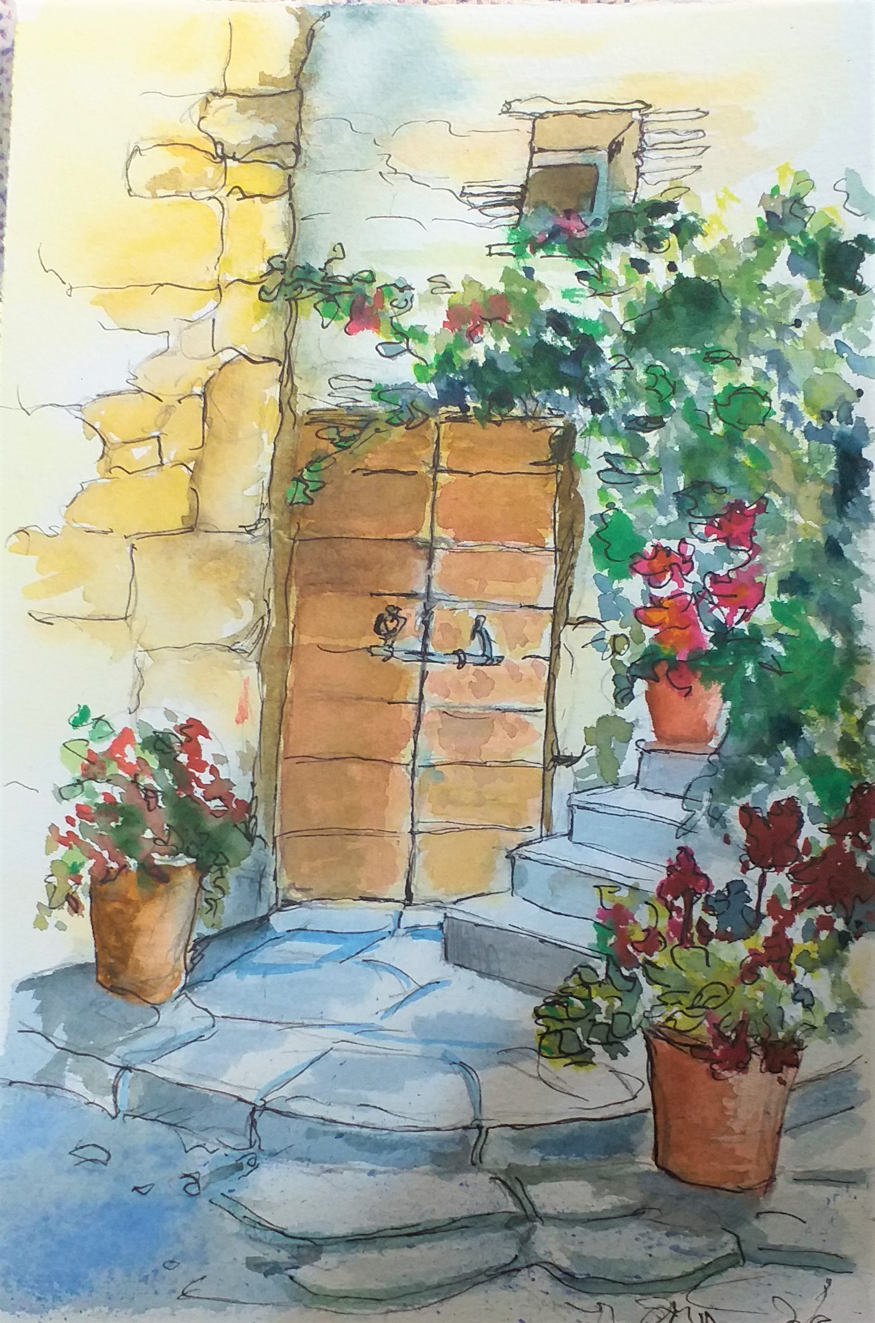Dana's watercolour painting of architecture