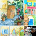 Learn how to paint architecture in Watercolour with Artist Raya Brown in Kidderminster, Worcestershire