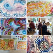 Great start to the Watercolour course for complete beginners in Kidderminster