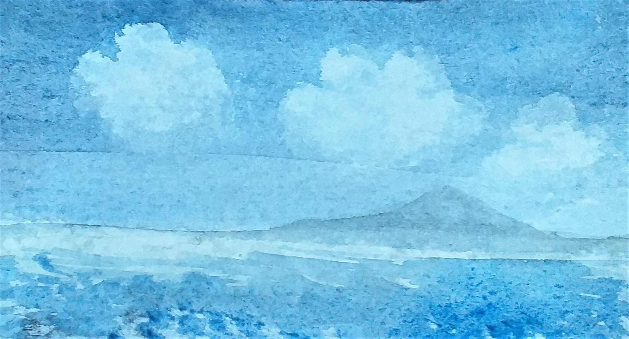 Seascape in Watercolour painted by Alison at Fundamental Art Skills course in Kidderminster
