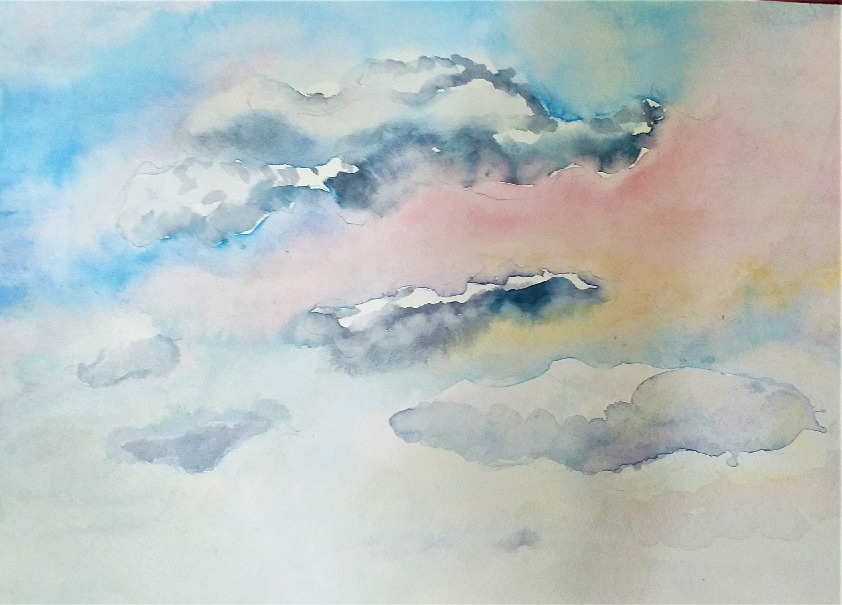 Watercolour created at Raya's watercolour class in Worcestershire.