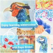 One place left on this exciting interactive online Watercolour course with live tuition