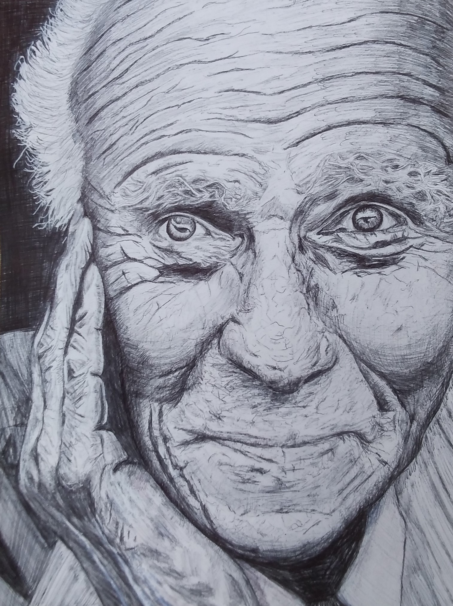 Learn how to draw portrait at online art course via zoom