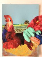 Learn to make collage at online art course with Raya Brown in Worcestershire