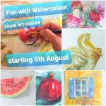 Next 'Fun with Watercolours' interactive online art course with live tuition