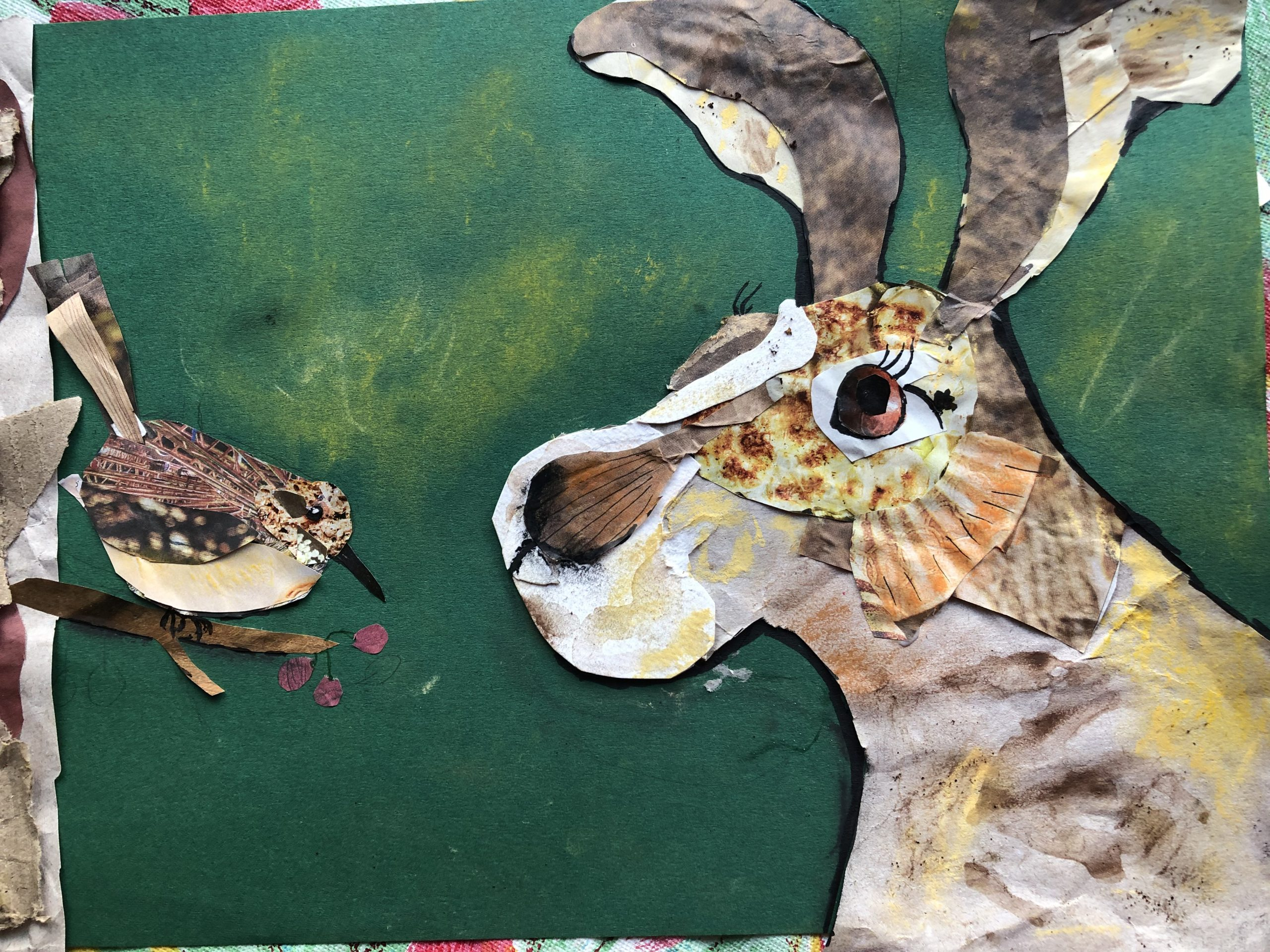 Learn to make collage at online course with Raya Brown in Worcestershire.