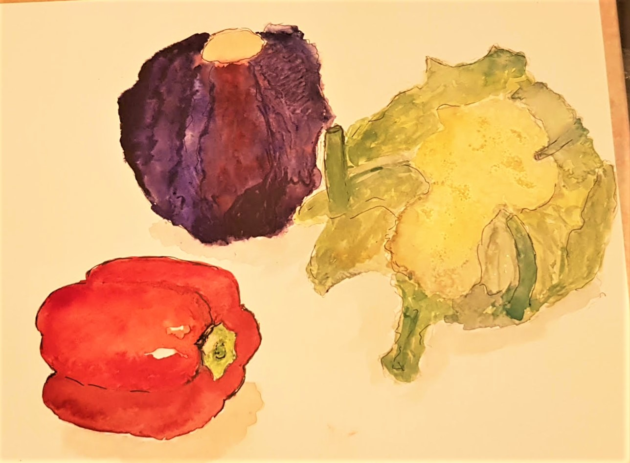 Learn how to paint a still life in watercolour at online art classes