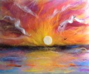 Fabulous wool painting art workshops in Worcestershire face-to-face and online.