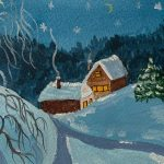 Watercolour Christmas cards online art zoom course was a great success!