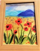 Wool painting art kits were successfully used at our online zoom course.