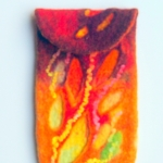 Handmade Felted Autumn Mobile Phone case original work by Raya Brown  8.8x14.7cm  £35