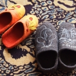 Handfelted slippers