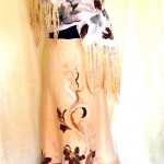 Nuno Felted Skirt and Wrap decorated with fleeces
