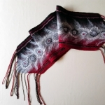 Black and Red Merino Wool Scarf