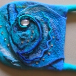 Sea Style Felted Bag (fragment)