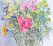 'The Rose' original watercolour painting by Raya Brown  55X50cm £280