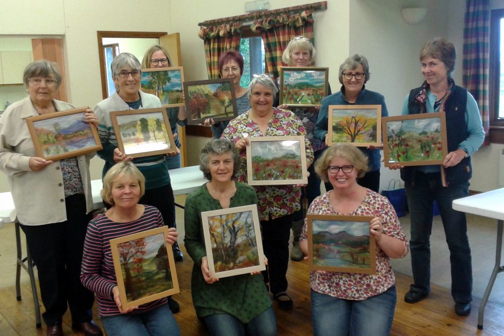 'Autumn landscape' wool painting course with artist Raya Brown