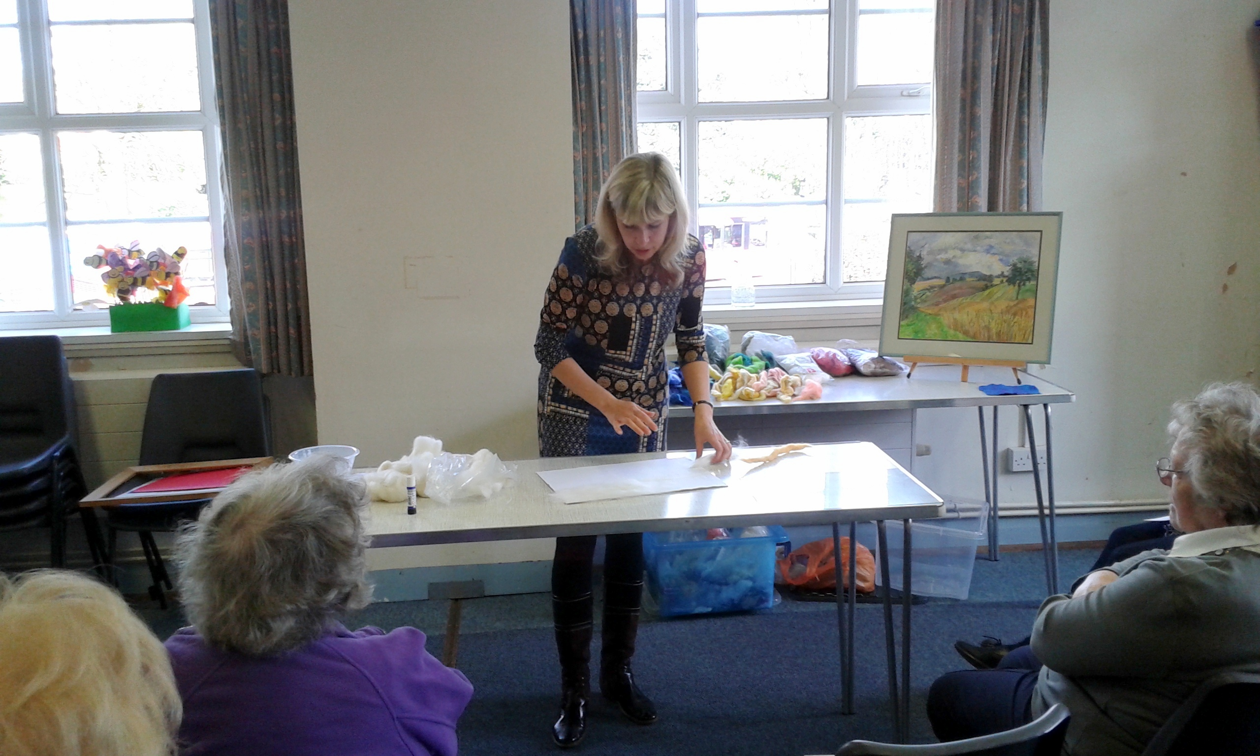 My demo on wool painting at Solihull